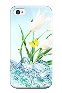 Hot Fashion SvtRCiJ2920LdLbp Design Case Cover For Iphone 4/4s Protective Case (flower)
