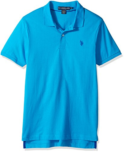 U.S. Polo Assn. Men's Slim Fit Solid Short Sleeve Jersey Shirt, Flipflop Blue-8199, ()