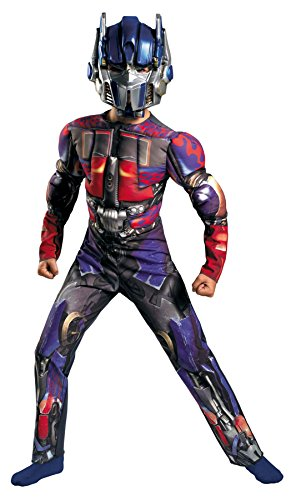 UHC Boy's Optimus Prime Muscle Kids Child Fancy Dress Party Halloween Costume, L (10-12)
