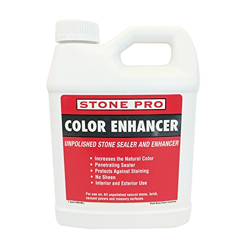Stone Pro Color Enhancer - Unpolished Stone Sealer and Enhancer - 1 Quart
