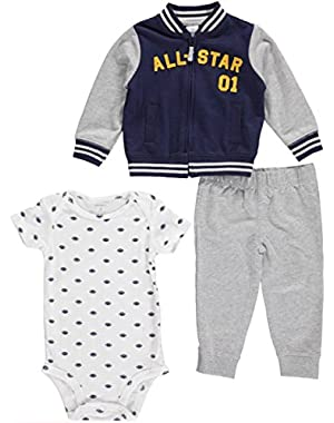 Carters Baby Boys Future Football All-Star 3-Piece Outfit - navy/gray, 9 months