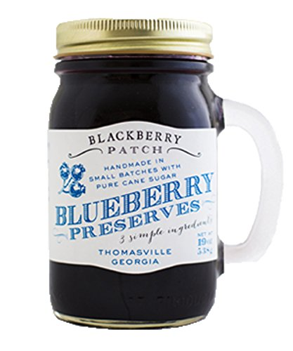 BlackBerry Patch Handled Mug Blueberry Fruit Preserves All Natural Hand Made in Small Batches | The perfect accessory to pancakes porridge oatmeal toast (Blueberry, 18 Fl oz) For Sale