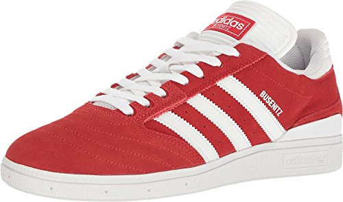 (adidas Skateboarding Men's Busenitz Pro Scarlet/Footwear White/Footwear White Athletic)