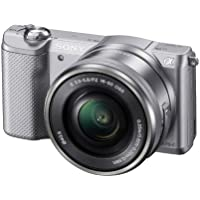 Sony Alpha a5000 Mirrorless Camera with 16-50mm Retractable OSS Lens, Built-in Wi-Fi and NFC, 1080P Video and 3 Tiltable Touchscreen (White)