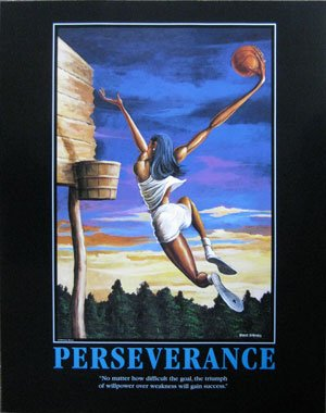Ernie Barnes - Perseverance (The Dunk) Hand Signed Open Edition on Paper