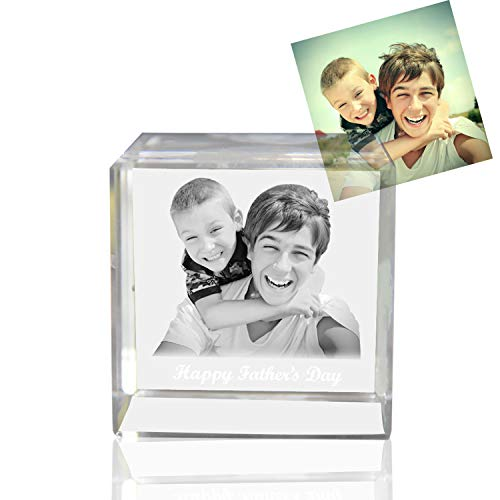 Qianruna Personalized Custom 2D/3D Crystal Laser Engraving Photo Cube Portrait Gifts for Wedding and Anniversary
