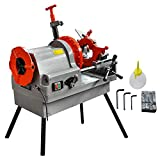 Mophorn Electric Pipe Threading Machine 1/2''-4'' Pipe Threading Cutter 750W Deburrer NPT P100 Upstanding