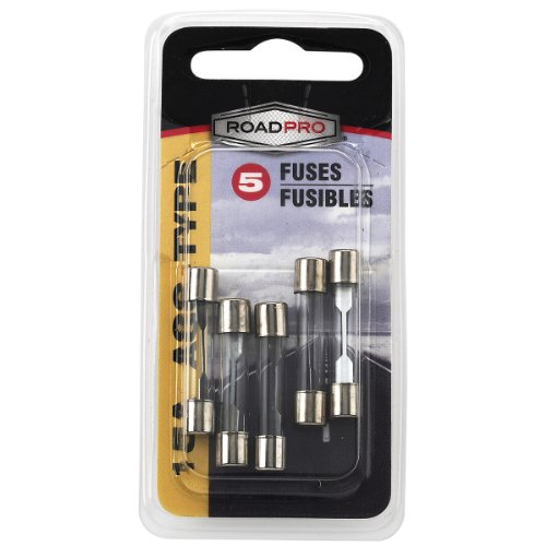 RoadPro RPAGC15 15 Amp AGC Fuse, (Pack of 5) Agc 15 Amp