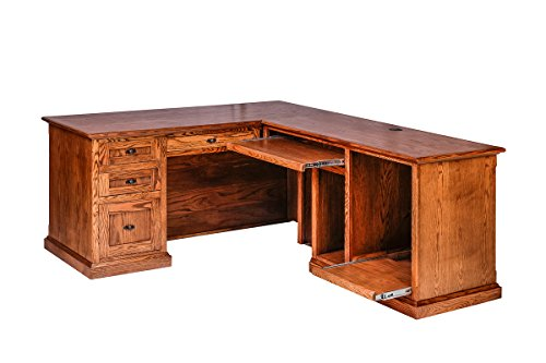 Forest Designs Mission Oak Executive Double Pedestal Desk, 72