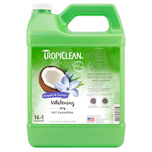 TropiClean Awapuhi & Coconut Whitening Pet Shampoo, 1 Gallon