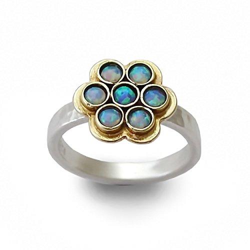 9k Yellow Gold Opal Ring - 7