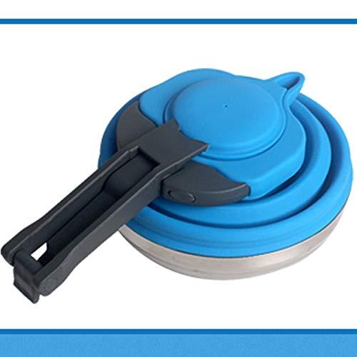 Shumo Portable Pliable Silicone Bouilloire /à Eau 1.2L Pot en Plein Air Camping Voyager Voyager Randonn/ée Cuisine Outils Th/é Th/é Bouilloire