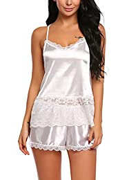Avidlove Women Lace Sleepwear Stain Pajamas Sexy Lingerie Camisole Short Sets