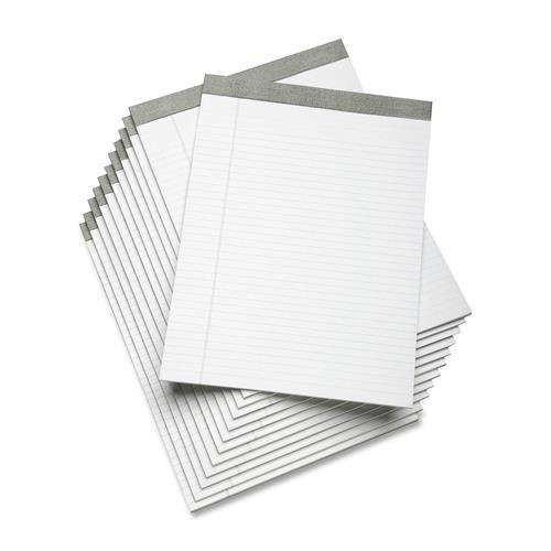 7530-01-447-1353 SKILCRAFT Writing Pad - 50 Sheet - 16lb - Wide Ruled - Letter 8.5'' x 11'' - 12 / Dozen - White