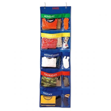 Lillian Vernon Personalized Primary Colors Days-Of-The-Week Hanging Organizer Z800481