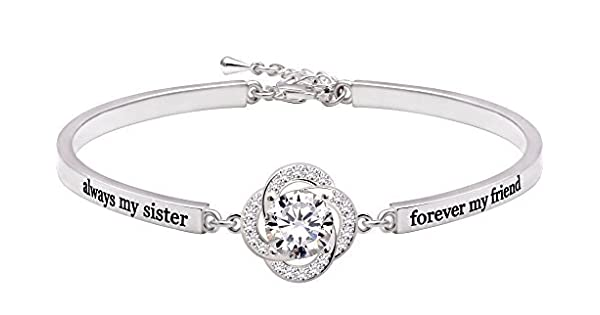 ALOV Jewelry Sterling Silver always my sister forever my friend