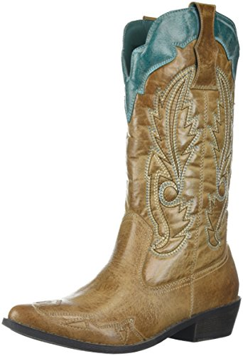 Coconuts by Matisse Women's CIMMARON, Tan/Turquoise, 6 M US]()