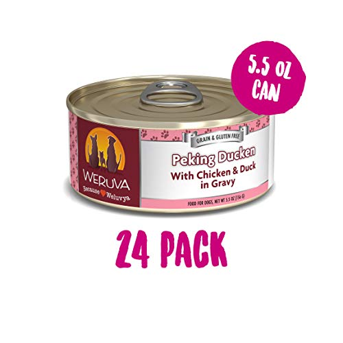 Weruva Classic Dog Food, Peking Ducken With Chicken & Duck In Gravy, 5.5Oz Can (Pack Of 24)