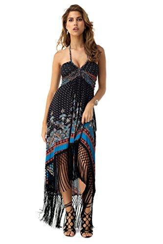 SKY Women's NAJI High Low Dress, Black