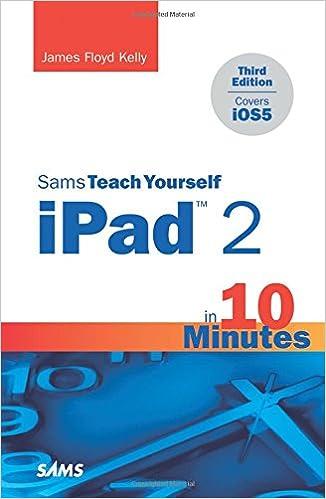 Sams Teach Yourself iPad 2 in 10 Minutes (Sams Teach Yourself -- Minutes)