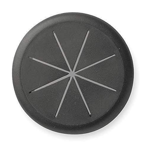 Master Caster Flexible Grommet, Desk, 2-3/8 In Dia, Blk - 00209, 10 packs ()