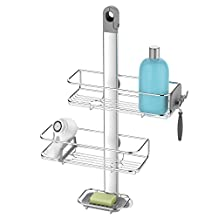 simplehuman Shower Caddy and Anodized Aluminum, Silver Stainless Steel, Adjustable
