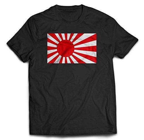 Japan Navy Rising Sun Flag T-Shirt, Medium, Black