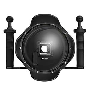 """SHOOT Pro Versión 3.0 6"""" Buceo Submarino Estabilizador de Mano Parasol Dome Puerto de Cúpula de Lente para GoPro Hero 3+/4 Black Silver con Pantalla Monitor Externo Espectador Pantalla LCD Fotografía Subacuática"""