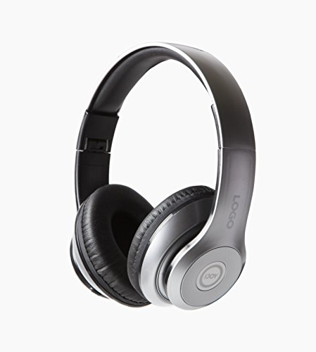 iJoy Matte Rechargeable Wireless Bluetooth Foldable Over Ear Headphones with Mic (SLV) - Vaas Bluetooth Headphones