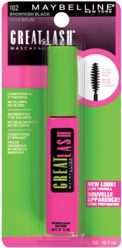 Maybelline Great Lash Mascara, brunâtre noir .43 once liquide