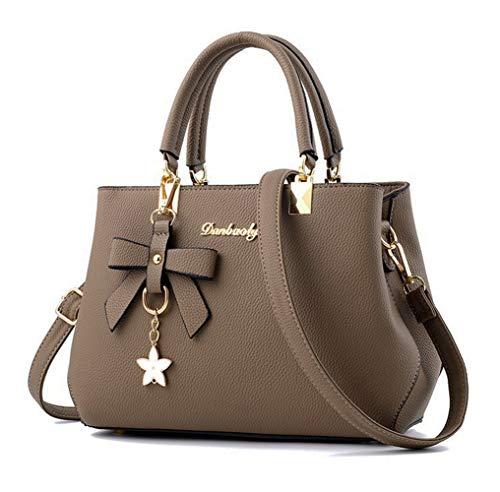 ag Tote Shoulder Purse Leather Crossbody Bag Khaki ()