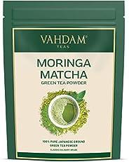 Moringa + Matcha Green Tea Powder - Powerful SUPERFOODS Blend (25 Servings, 1.7 Oz) - Pure Japanese Matcha Pow