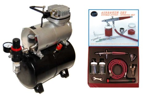 - Paasche VLS Airbrush Set and Air Compressor with Tank