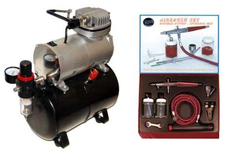 - Paasche VL AIRBRUSH SET w/Air Compressor/Tank-T-Shirt