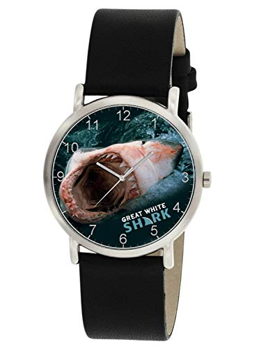 GREAT WHITE SHARK JAWS SCARY BLOODY KILLER SHARK WRIST WATCH FOR ALL AGES