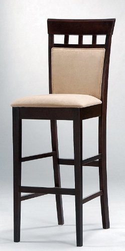 """Bar Stools, Set of 2, 30""""H in a Cappuccino Finish"""