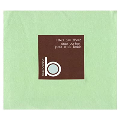 Blue Banana Jersey Knit Fitted Crib Sheet Sage by Blue Banana
