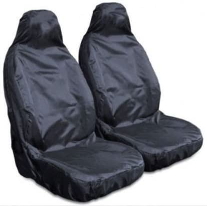 Mr E Saver/© Heavy Duty Waterproof Front Seat Cover Protectors Black MRE757