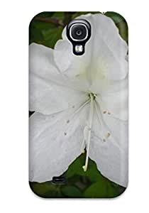 New Snap-on Skin Case Cover Compatible With Galaxy S4- White Flowers