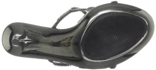Unze Evening Sandals, Damen Sandalen Schwarz (L18479W)