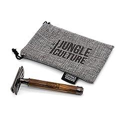 Jungle Culture® Bamboo Safety Razor for Men & Women | Premium Eco Friendly Razor & Travel Bag | Fits All Double Edge… Manual Shaving [tag]