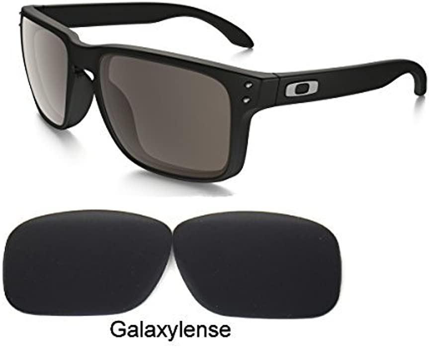 5bedfdc989 Amazon.com  Galaxy Replacement lenses For Oakley Holbrook Polarized Black  100% UVAB  Clothing