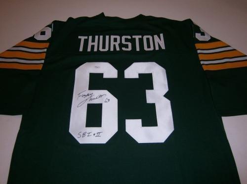 eeb4b0e103a Amazon.com  Fuzzy Thurston Autographed Jersey - custom w SB I   II COA -  JSA Certified - Autographed NFL Jerseys  Sports Collectibles