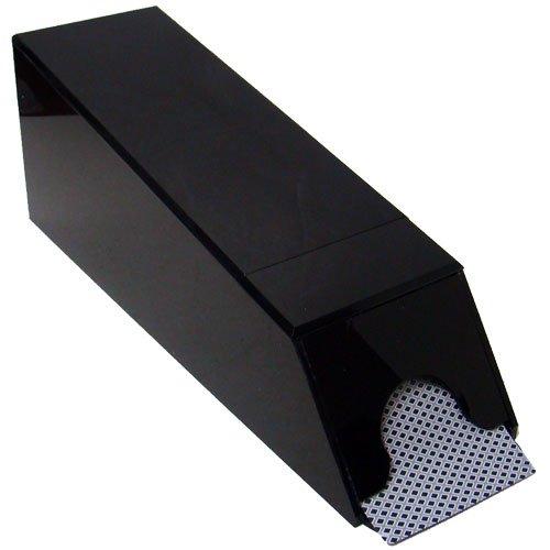Professional Black 8-Deck Covered Dealer Shoe - Includes 2 Cut Cards!