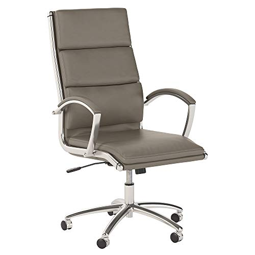 Office by kathy ireland Method High Back Leather Executive Chair in Washed Gray (Desk Kathy Executive Ireland)