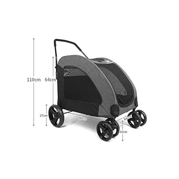 YD Pet Travel Carrier Pet Trolley Disabled Dog Assisted Vehicle Injured Dog Pet Scooter Outing Folding Cart Large And… Click on image for further info. 2