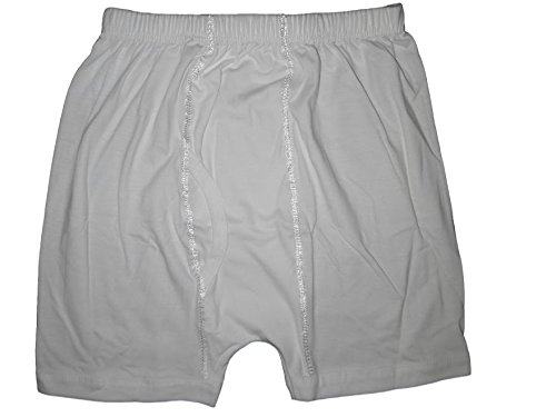 treasure.of.egypt 100% Egyptian Cotton Short Mens Men Underwear Boxer Briefs White Clothing (XL) (Egyptian Cotton Boxers)