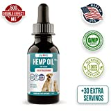 Hemp Oil for Dogs and Cats - 500 mg - Anxiety Relief for Dogs Cats - Hemp Dog - Pet Hemp Oil - 100% Organic Hemp Dog Treats Grown and Extracted in USA for all Pets