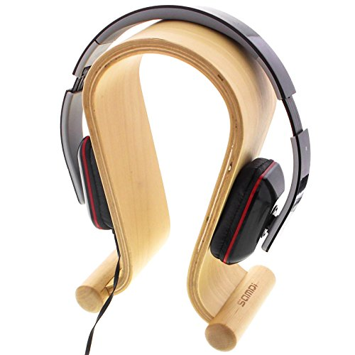 Support Pour Casque Audio Hi Fi En Bois Beige Amazonfr High Tech