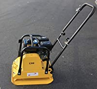 KCHEX>>>Walk Behind Dirt Vibrating Compactor Rammer Asphalt Soil 6.5HP 196cc Engine>Plate 21 X 17 Inch 5500VPM Travel Speed:20-25 cm/s Climb Ability:0~20 Degree Impact Force: 15 kn Impact